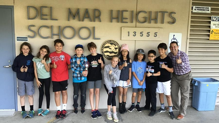 Del Mar Heights School's FIRST Lego League team members, who took second at a recent qualifying tournament.